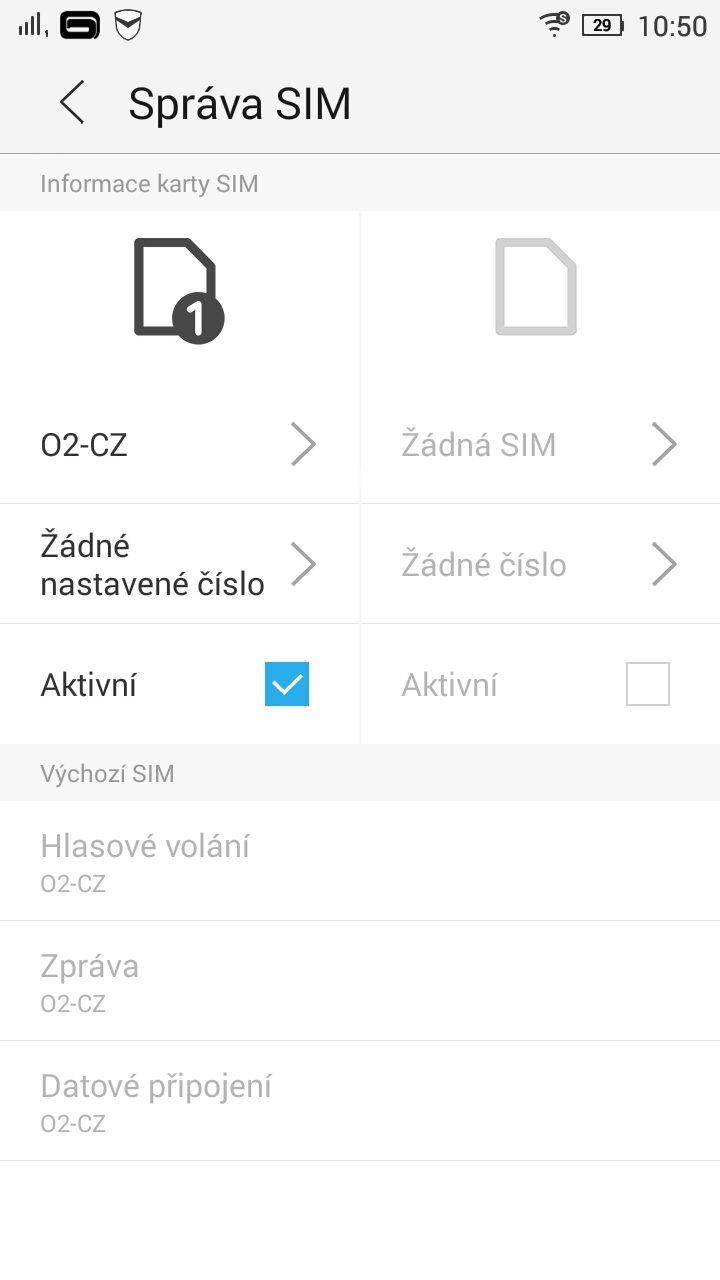 Lenovo S90 - dual SIM management