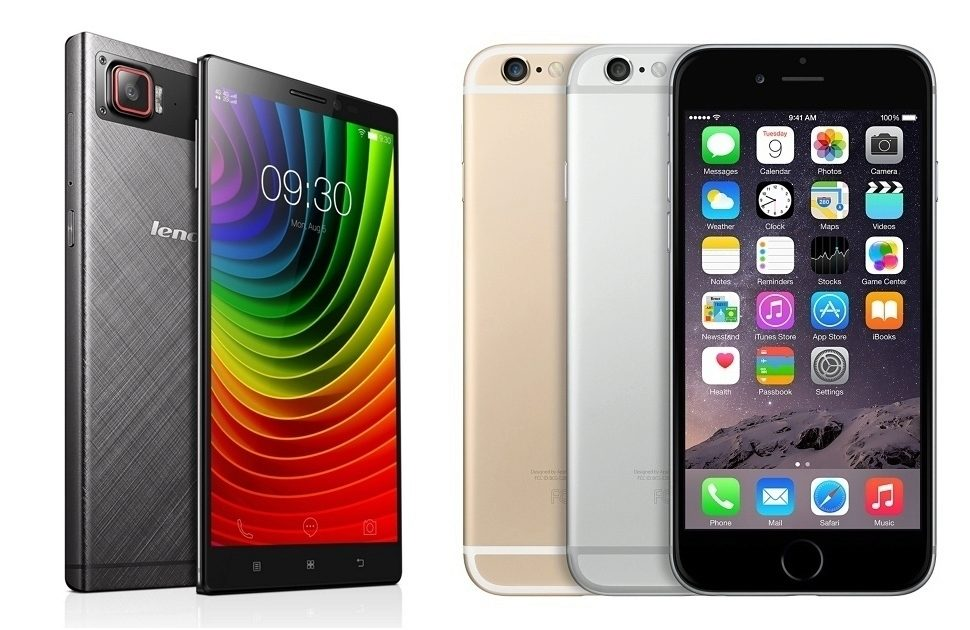 iPhone 6 vs Lenovo Vibe Z2 Pro