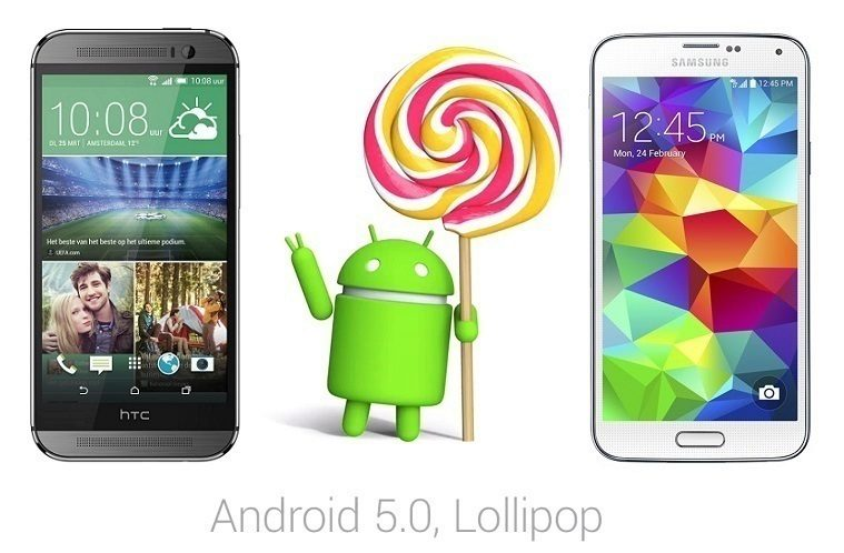 lollipop htc M8 SGS5 titul