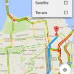 Mapy Google 9.3: sdílení trasy