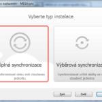Výběr typu synchronizace