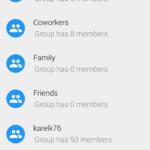 Blokování skupiny kontaktů