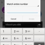 Blokování telefonního čísla