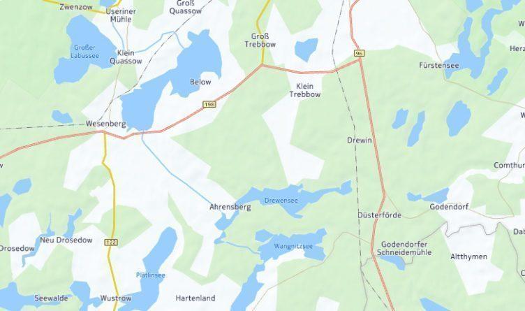 Německý venkov, kde je nyní v mapách více malých rybníků