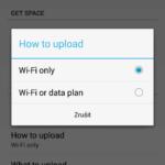 Záloha přes Wi-Fi, nebo i mobilní data?