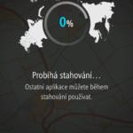 Stahování mapových podkladů do navigace