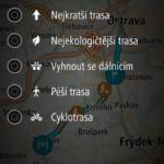 Volba typu trasy