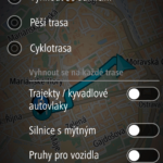 Možnosti plánování trasy