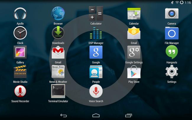 Aplikace z alternativní ROM CyanogenMod