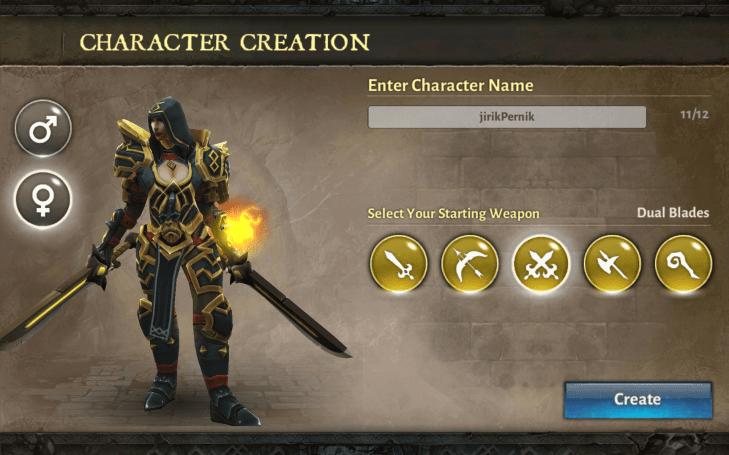 Dungeon Hunter 5 - výběr zbraně