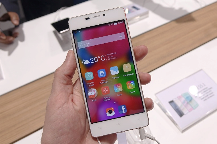 gionee elife s5.1 hlavni