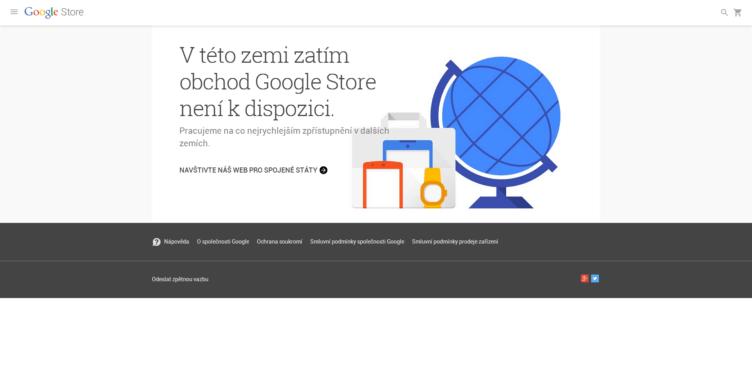 V Česku zatím obchod Google Store není k dispozici