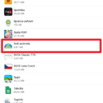Výběr aplikace ze seznamu