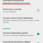 Neaktualizovat aplikace automaticky