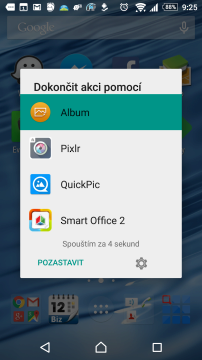 Nabídka aplikace Better Open With