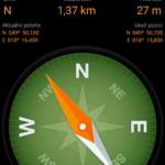 Geocaching - navigace kompasem