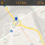 Geocaching - navigace mapou