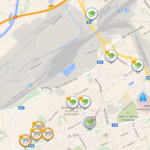 c:geo - keše v mapě