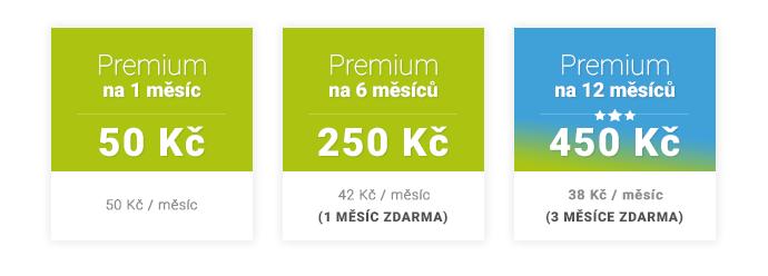 Premium ceník