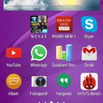 Sony Xperia E4g – hlavní plocha