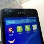 Sony Xperia E4g – přední fotoaparát, senzory, reproduktor pro volání