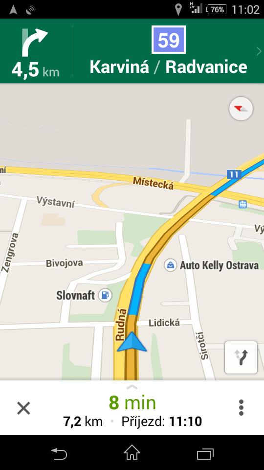 Sony Xperia E4g - test GPS