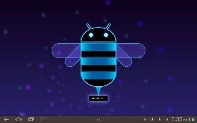 V Androidu 3.0 Honeycomb je velikonoční vajíčko inspirované kódovým názvem systému - konkrétně je to včela