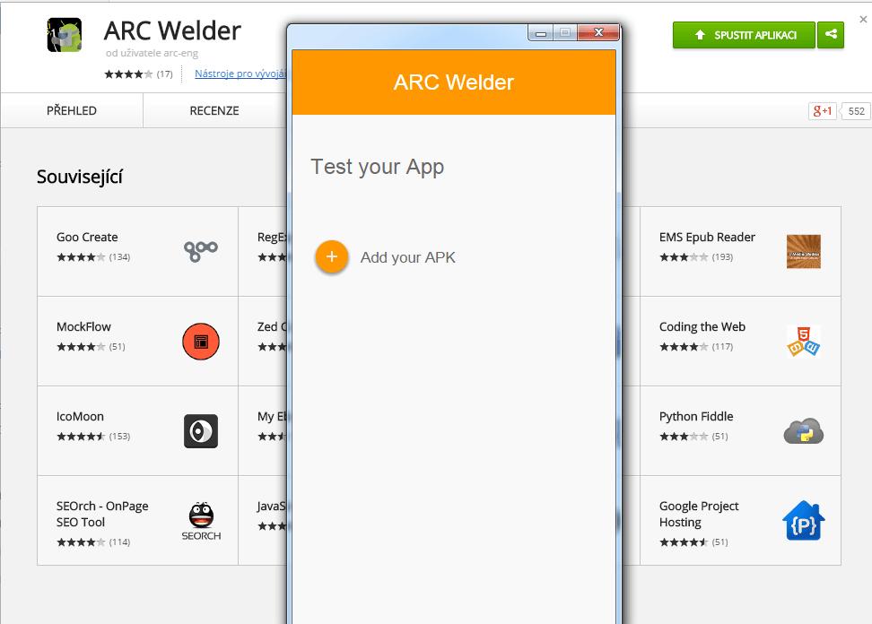 arc welder - android aplikace na pc