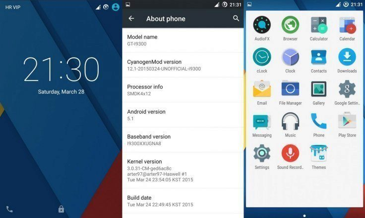 Android 5.1 v alternativní ROMce CyanogenMod 12.1