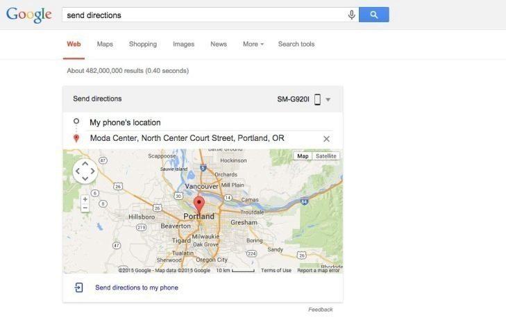 Takto vypadá nová funkce send directions