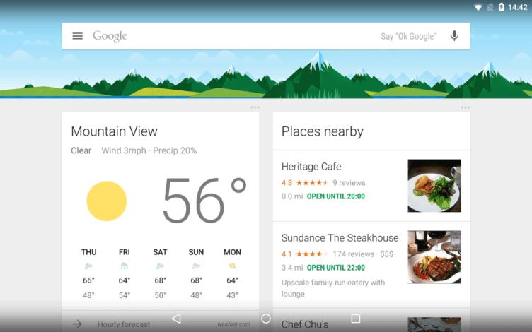 Chytré karty Google (Google Now) otevírají podporu více než 70 aplikacím
