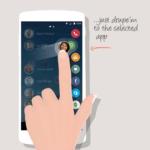 Aplikace jsou na pravé straně obrazovky