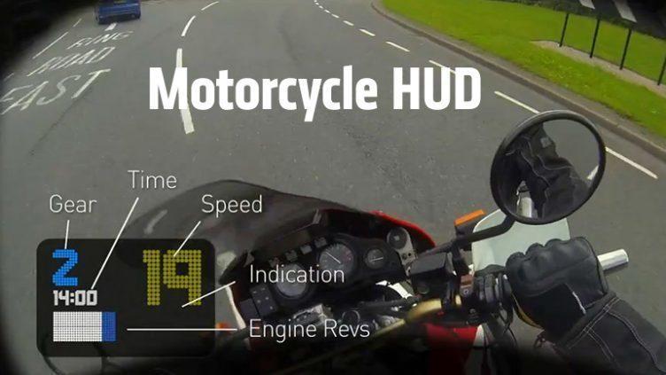 HUD se také objevuje v některých motocyklových helmách