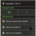GPS NACESTY – offline navigace