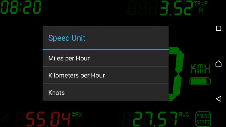 Volba jednotek rychlosti
