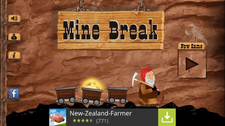 Hlavní obrazovka Mine Break