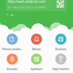 AirDroid na mobilním telefonu