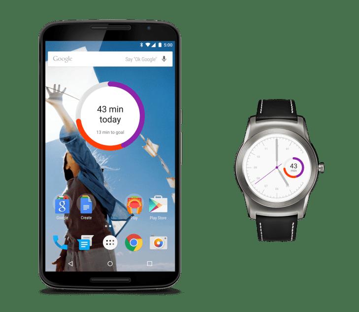 Google Fit přináší widget a ciferník pro hodinky