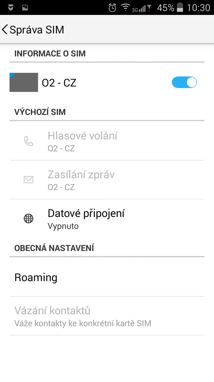 Lenovo A5000 - dual sim management