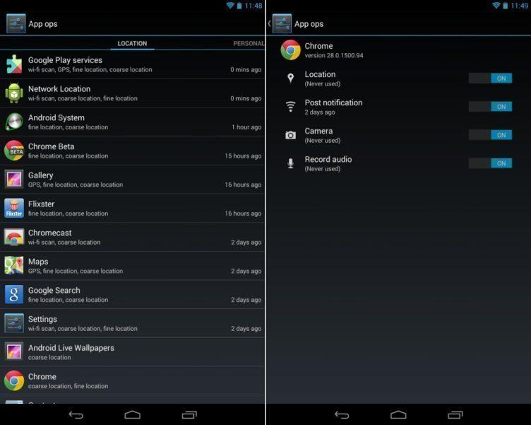 App Ops jako řešení správy oprávnění aplikací