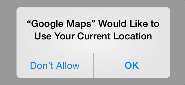 iOS se ptá se uživatele, zda souhlasí s oprávněním