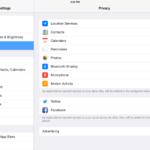iOS má svou vlastní variantu App Ops část (tzv. Privacy) jako součást nastavení
