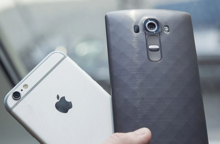 lg g4 iphone 6 hlavni