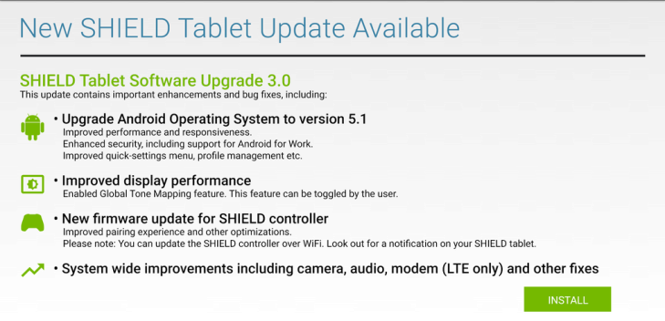 nvidia shield tablet android 5.1