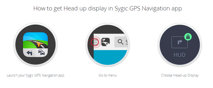 Jak aktivovat funkci Sygic Head-up Display