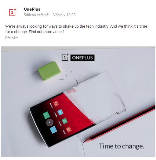 Oznámení na sociální síti Google+
