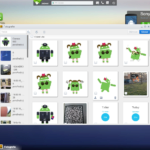 AirDroid v prohlížeči na PC