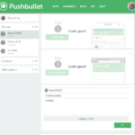Pushbullet na desktopu v prohlížeči