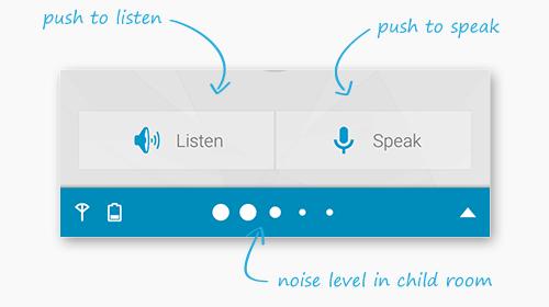 Stiskem tlačítka můžete sami aktivovat poslech zvuku