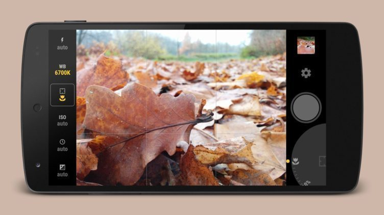 Manual Camera - jedna z aplikací schopných pořizovat snímky ve formátu RAW